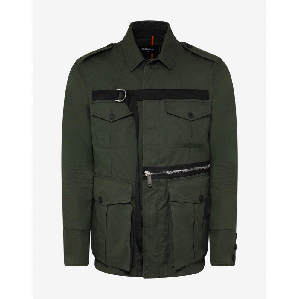 ディースクエアード Dsquared2 メンズ アウター ジャケット【Green D-ring Strap Military Jacket】Green