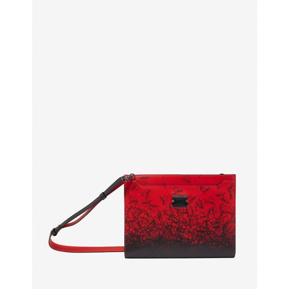 クリスチャン ルブタン Christian Louboutin メンズ バッグ【Skypouch Red Degraloubi Print Bag】Red