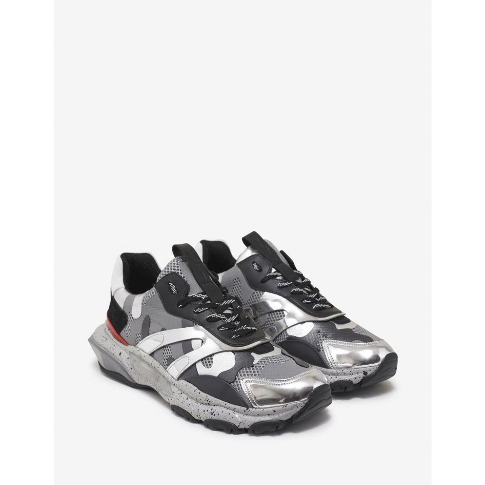 ヴァレンティノ Valentino Garavani メンズ シューズ・靴 スニーカー【Grey & Silver Camo Bounce Trainers】Grey