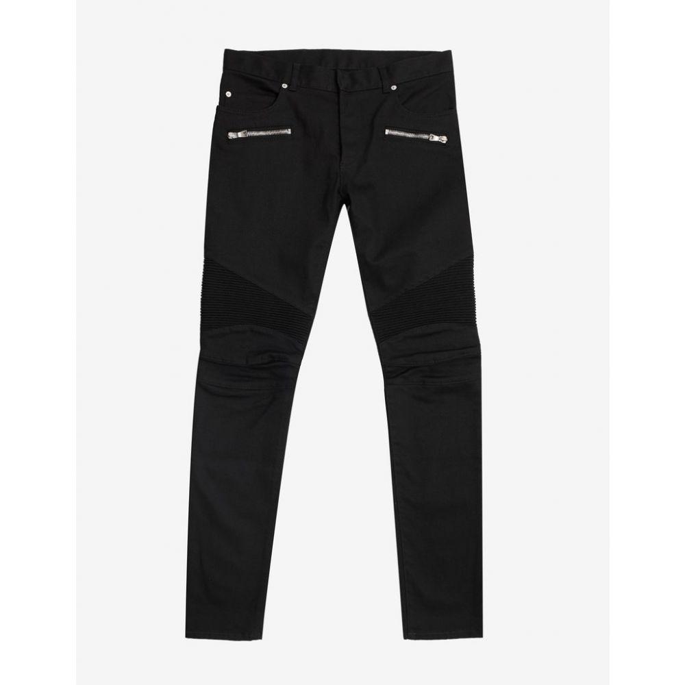 バルマン Balmain メンズ ボトムス・パンツ ジーンズ・デニム【Black Medallion Biker Jeans】Black