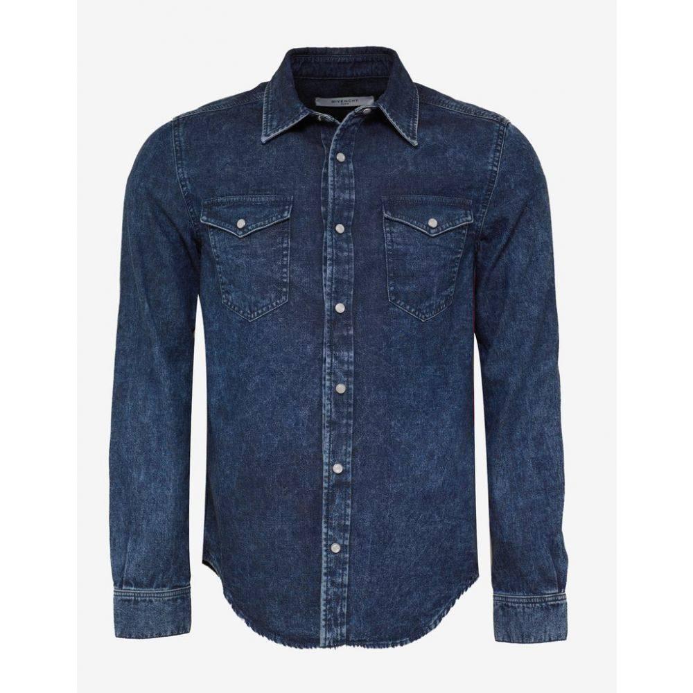 ジバンシー Givenchy メンズ トップス シャツ【Blue 4G Logo Band Denim Shirt】Blue