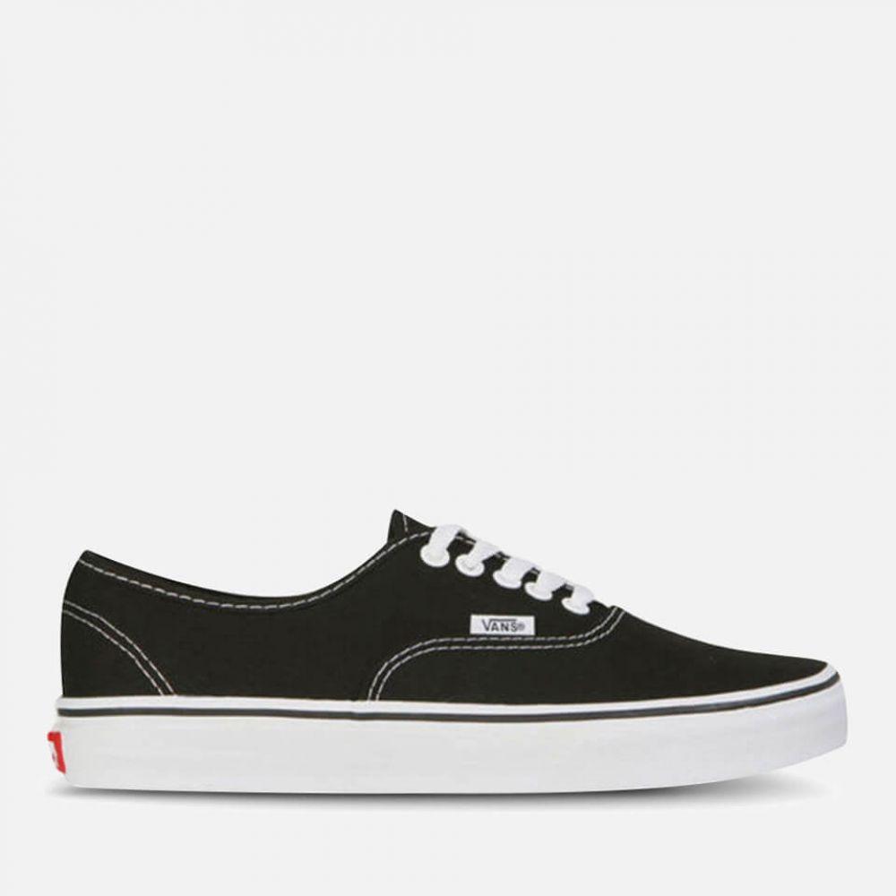 ヴァンズ Vans メンズ スニーカー シューズ・靴【authentic canvas trainers - black/white】Black/White