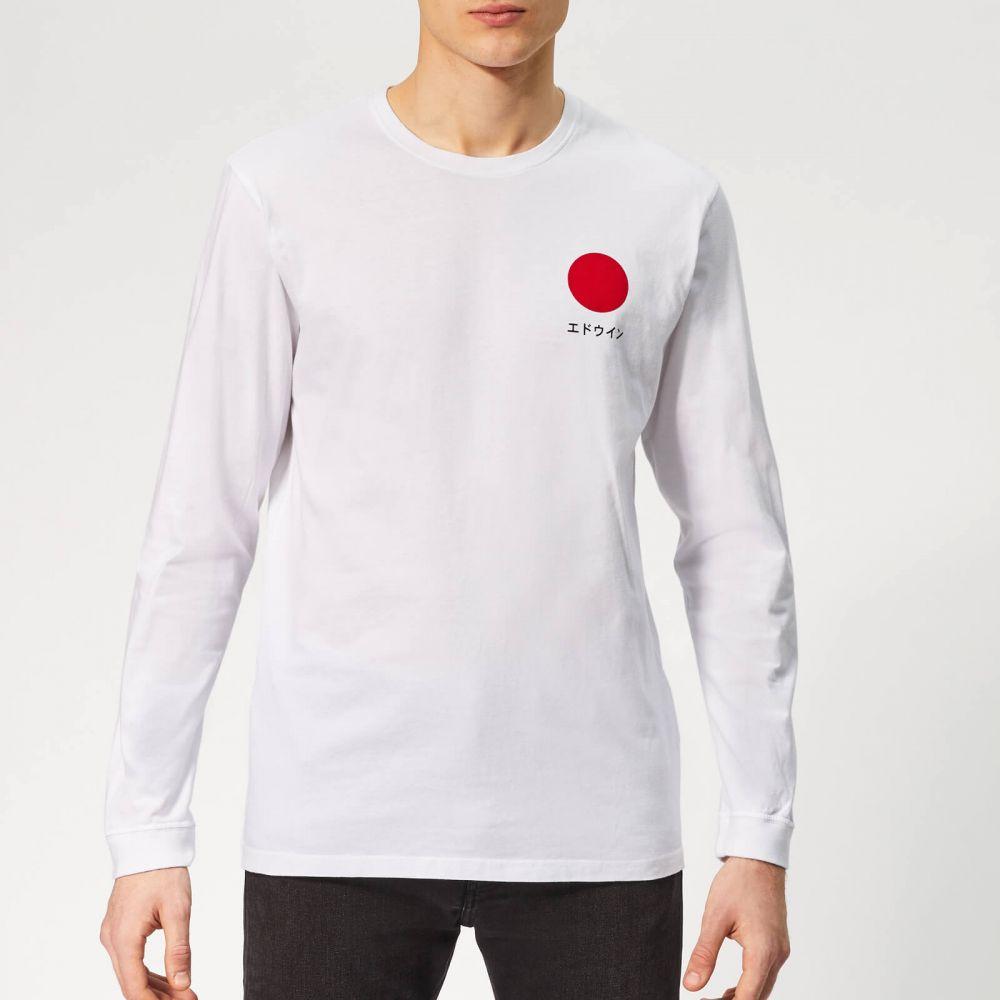 エドウィン Edwin メンズ 長袖Tシャツ トップス【japanese sun long sleeve t-shirt - white】White