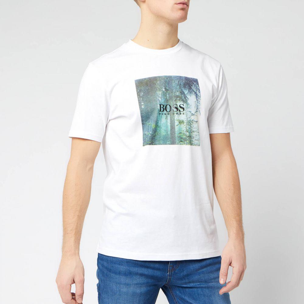 ヒューゴ ボス BOSS Hugo Boss メンズ Tシャツ トップス【BOSS Tipoff Logo T-Shirt - White】White
