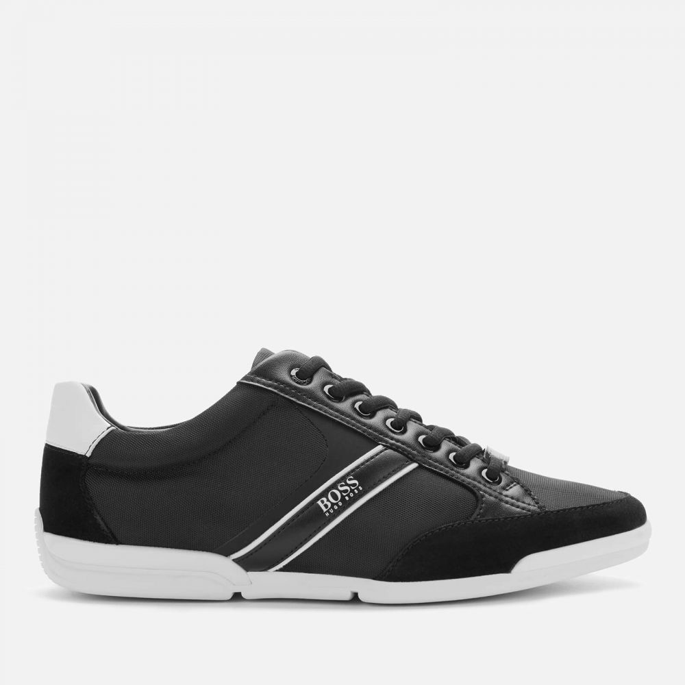 ヒューゴ ボス BOSS メンズ スニーカー シューズ・靴【Saturn Low Profile Nylon/Suede Trainers - Black】Black