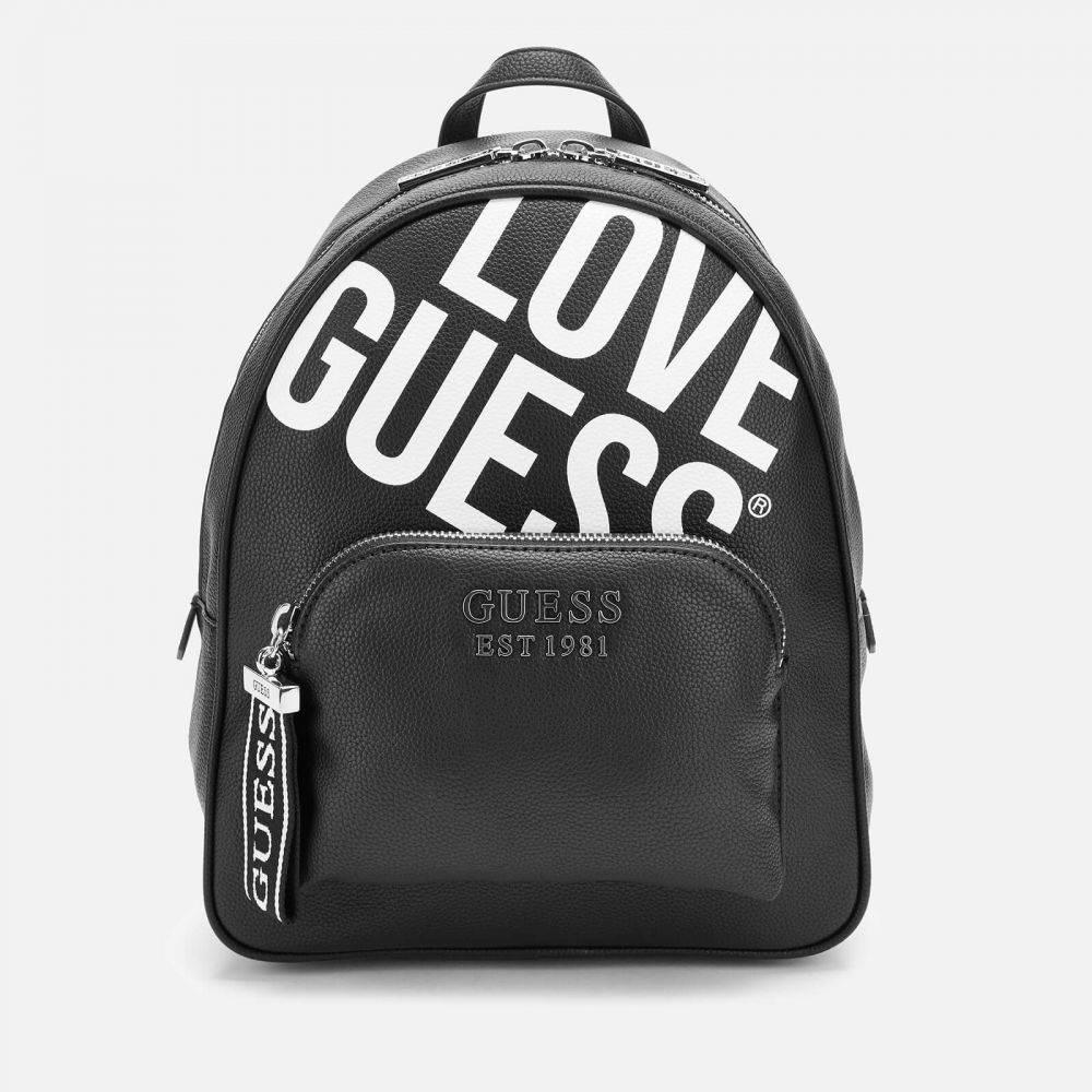 ゲス Guess レディース バックパック・リュック バッグ【Haidee Large Logo Backpack - Black】Black