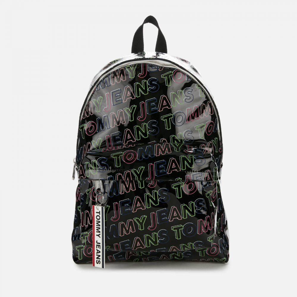 トミー ジーンズ Tommy Jeans レディース バックパック・リュック バッグ【Logo Tape Backpack - Black Print】Black