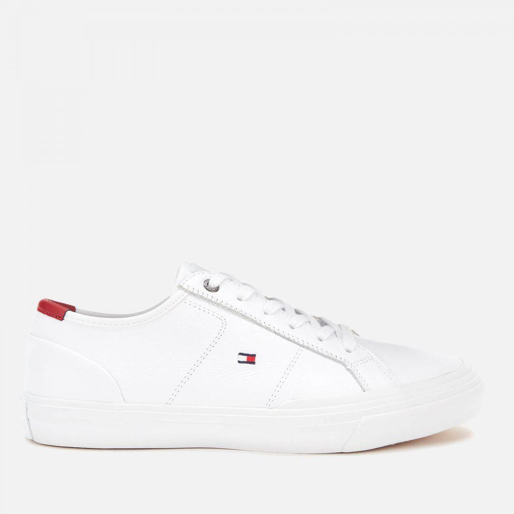 トミー ヒルフィガー Tommy Hilfiger メンズ スニーカー ローカット シューズ・靴【Core Corporate Flag Low Top Trainers - White】White