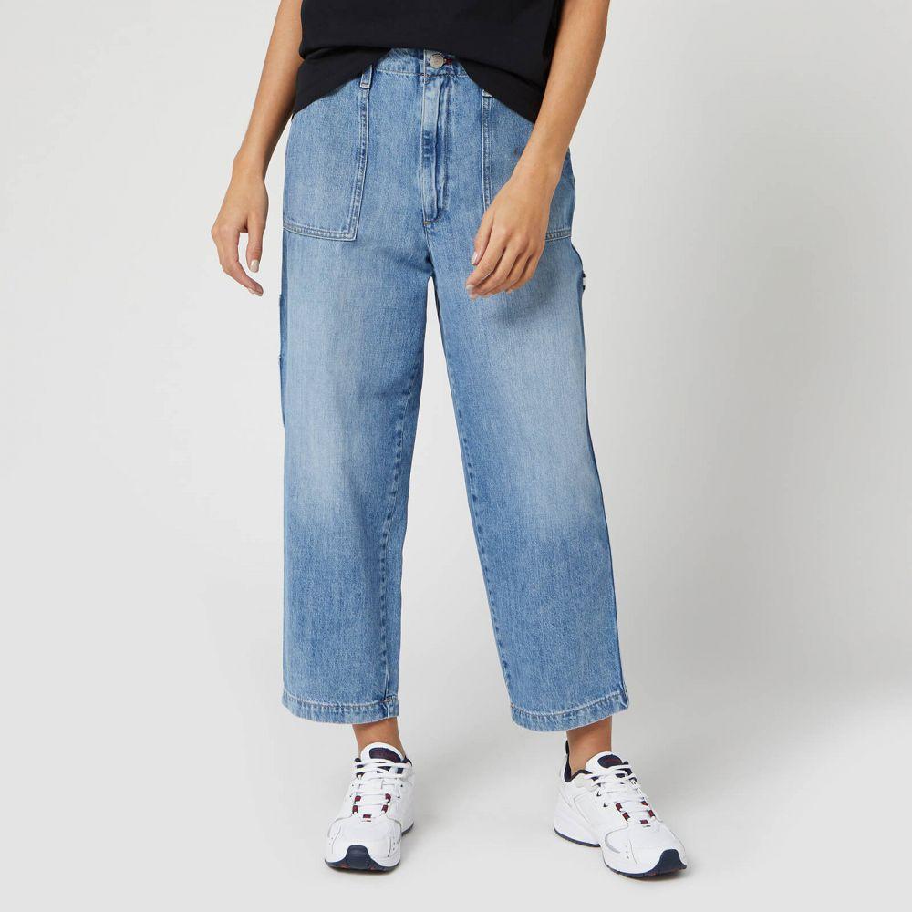 トミー ジーンズ Tommy Jeans レディース カーゴパンツ ボトムス・パンツ【Cargo Pant Jeans - Light Blue Rig】Blue
