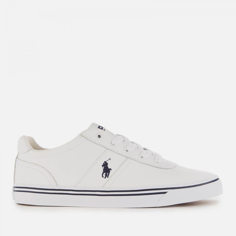 ラルフ ローレン Polo Ralph Lauren メンズ スニーカー ローカット シューズ・靴【Hanford Leather Low Top Trainers - Pure White】White