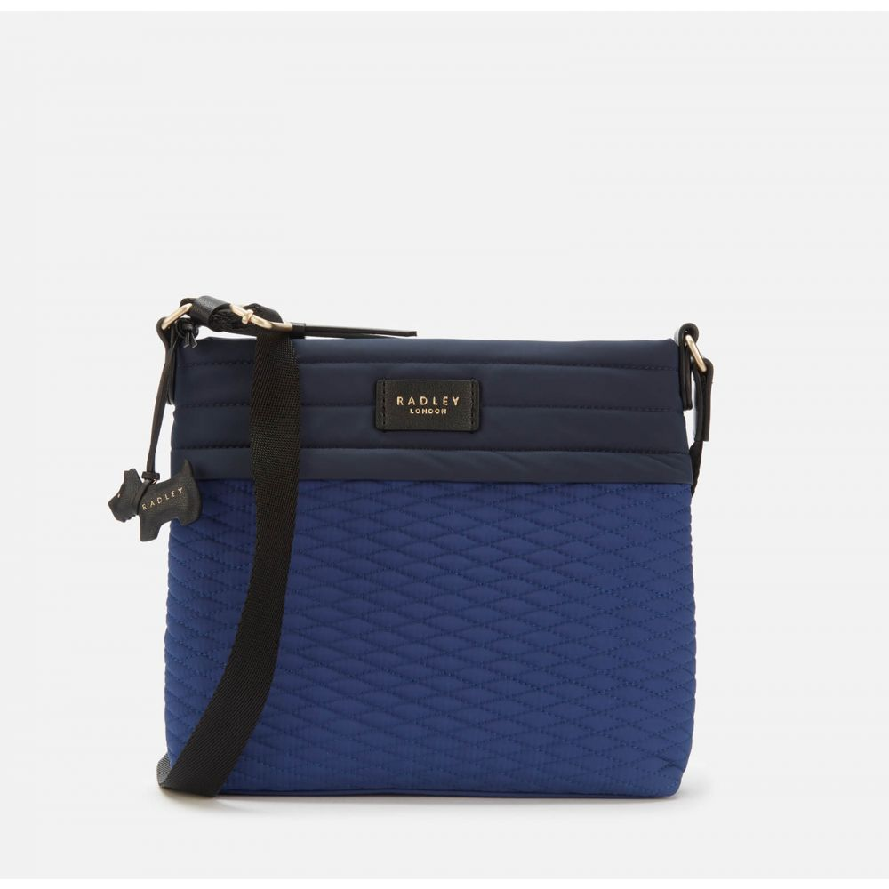 ラドリー Radley レディース ショルダーバッグ バッグ【Penton Mews Colour Block Medium Ziptop Cross Body Bag - Sapphire】Blue