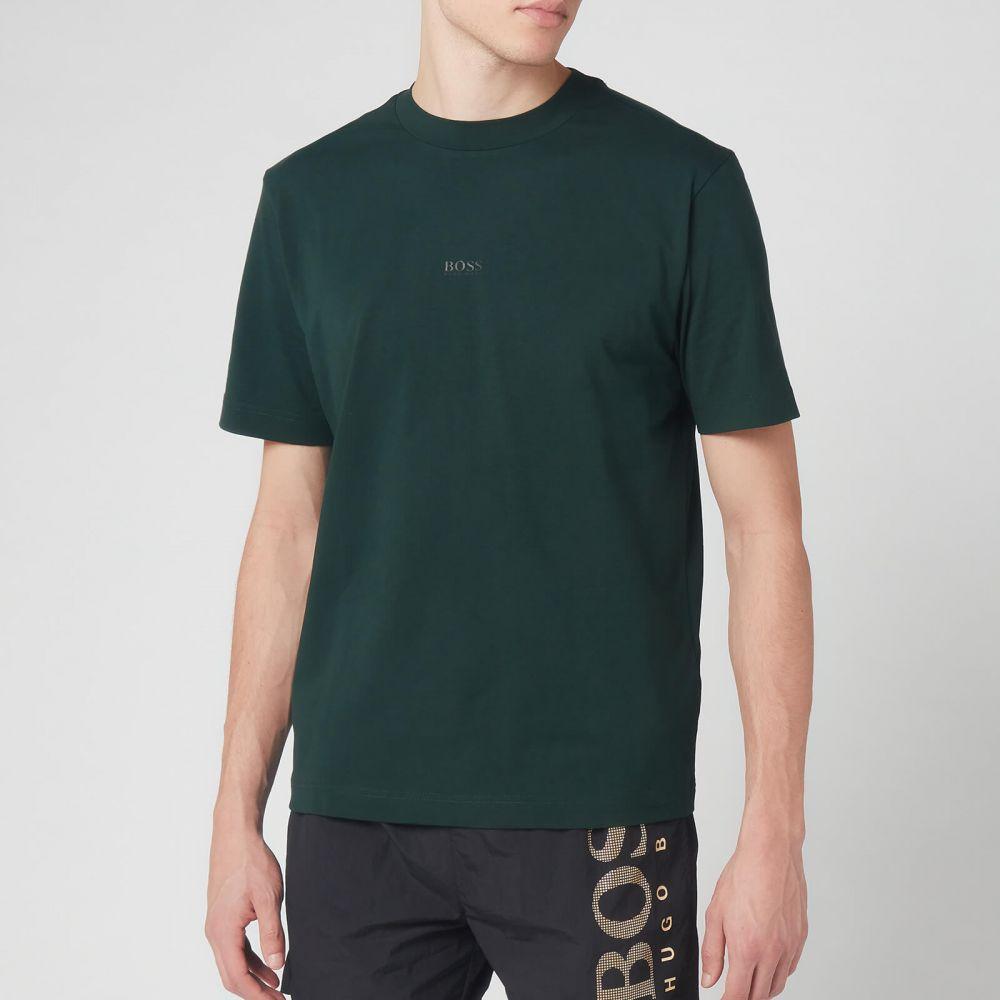 ヒューゴ ボス BOSS Hugo Boss メンズ Tシャツ トップス【BOSS Tchup T-Shirt - Green】Dark Green