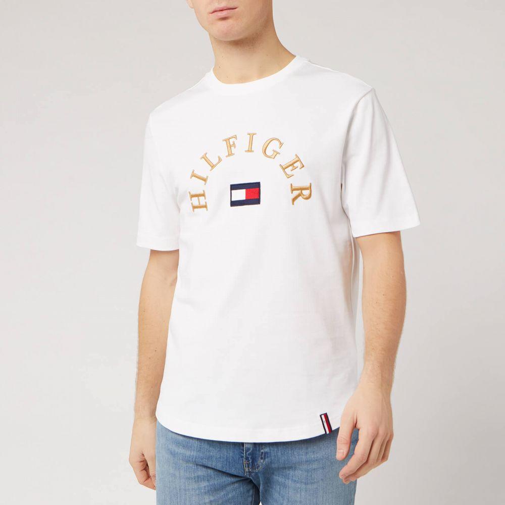 トミー ヒルフィガー Tommy Hilfiger メンズ Tシャツ トップス【Arch Logo T-Shirt - White】White