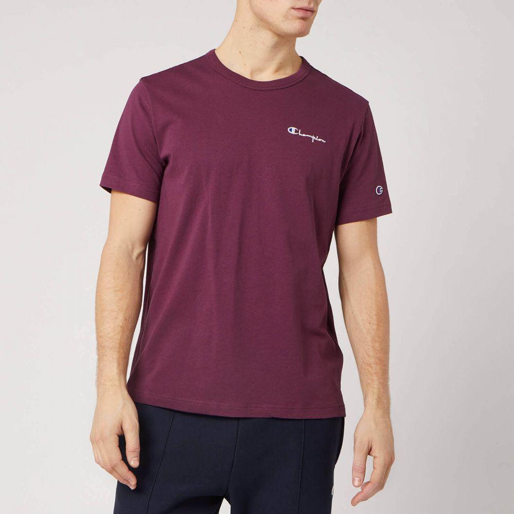 チャンピオン Champion メンズ Tシャツ トップス【Back Script Crew Neck T-Shirt - Burgundy】Burgundy