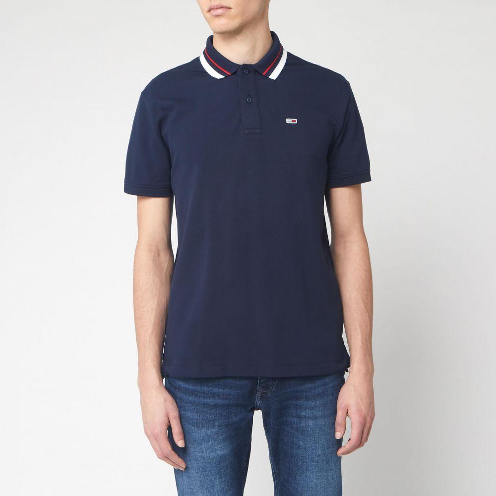 トミー ジーンズ Tommy Jeans メンズ ポロシャツ トップス【Classics Tipped Polo Shirt - Black Iris】Navy