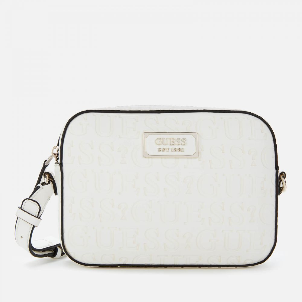 ゲス Guess レディース ショルダーバッグ バッグ【Kamryn Cross Body Bag Top Zip - White】White
