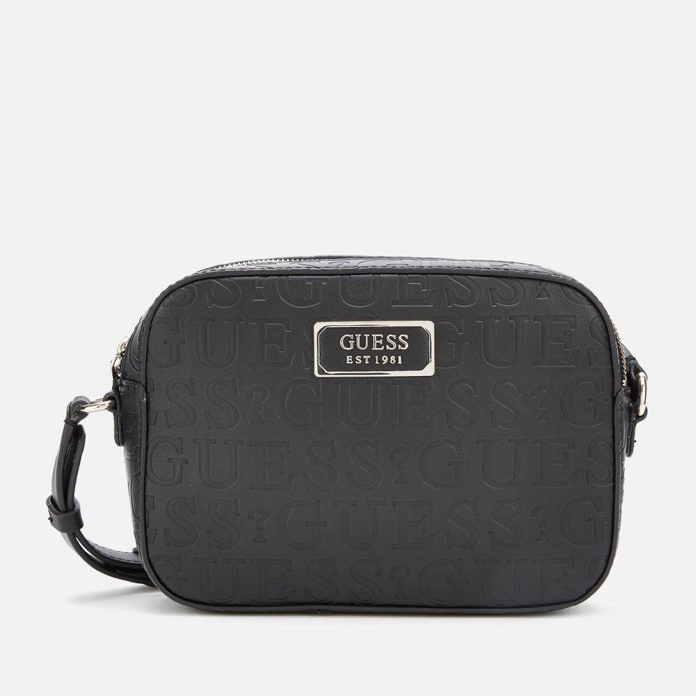 ゲス Guess レディース ショルダーバッグ バッグ【Kamryn Cross Body Bag Top Zip - Black】Black