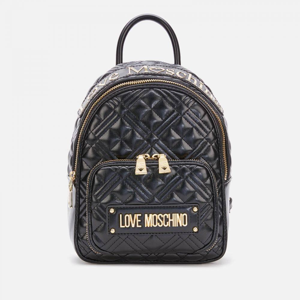モスキーノ Love Moschino レディース バックパック・リュック バッグ【Quilted Backpack - Black】Black