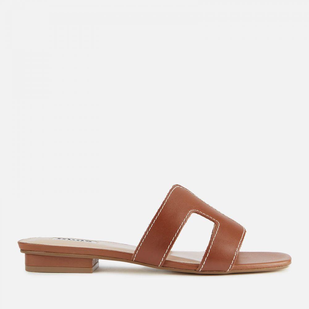 デューン Dune レディース サンダル・ミュール シューズ・靴【Loupe Leather Mule Sandals - Tan】Tan