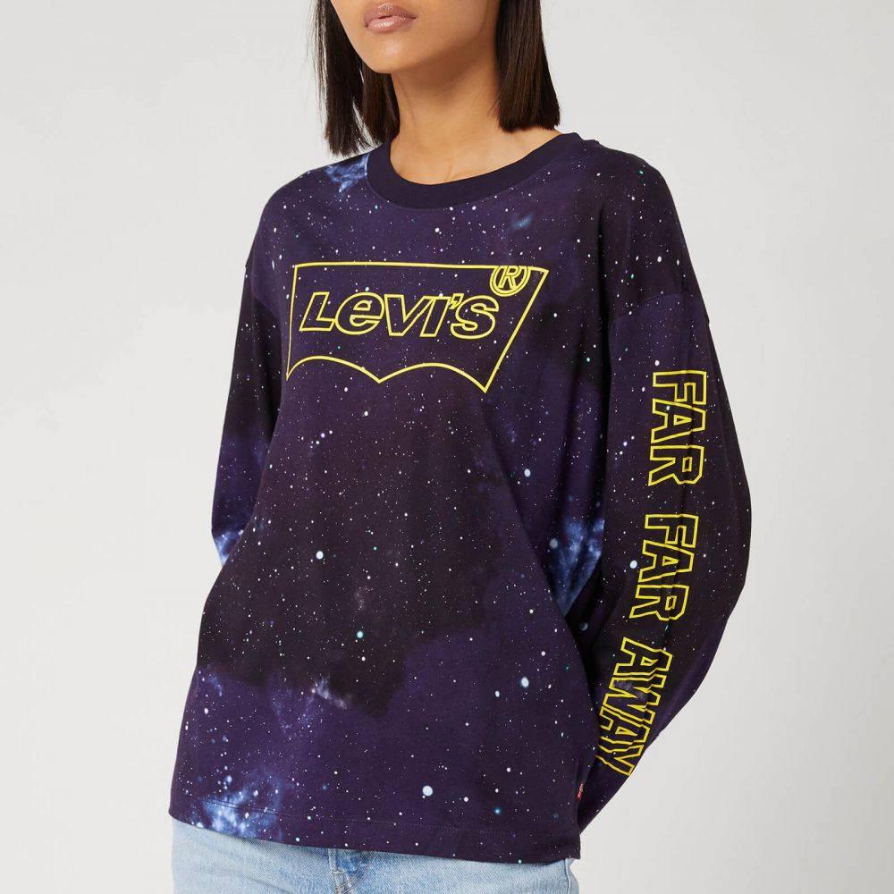 リーバイス Levi's レディース 長袖Tシャツ トップス【X Star Wars Oversize Long Sleeve T-Shirt - Black】Multi