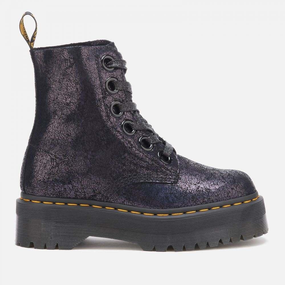 ドクターマーチン Dr. Martens レディース ブーツ シューズ・靴【Molly Iridescent Crackle 8-Eye Boots - Black】Black