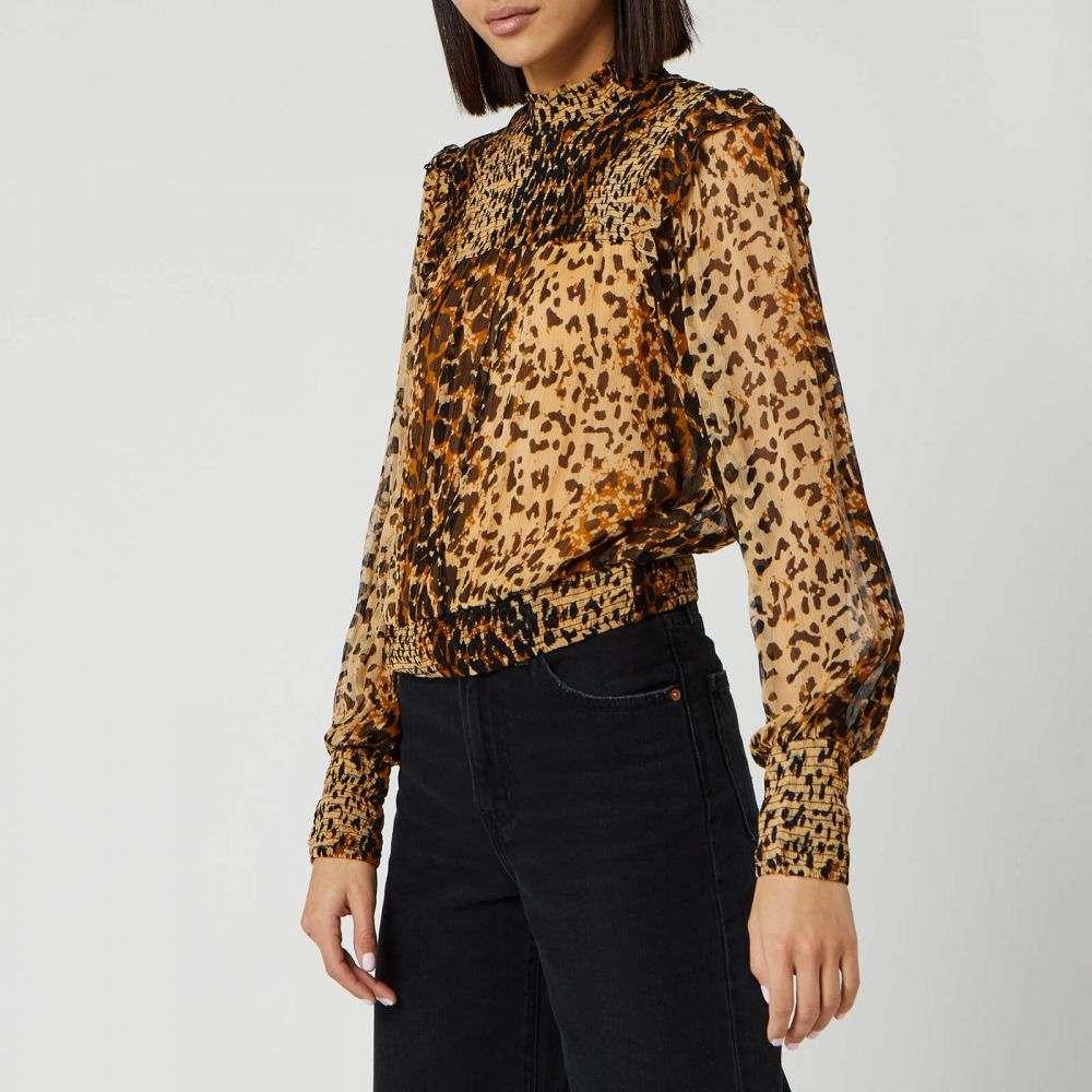 フリーピープル Free People レディース ブラウス・シャツ トップス【Roma Blouse - Brown Leopard】Brown/Black
