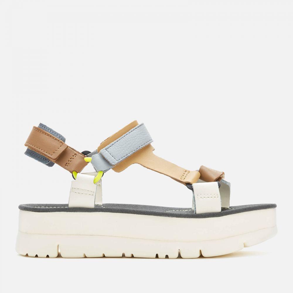 カンペール Camper レディース サンダル・ミュール シューズ・靴【Oruga Flatform Sandals - Multi】Brown/Grey