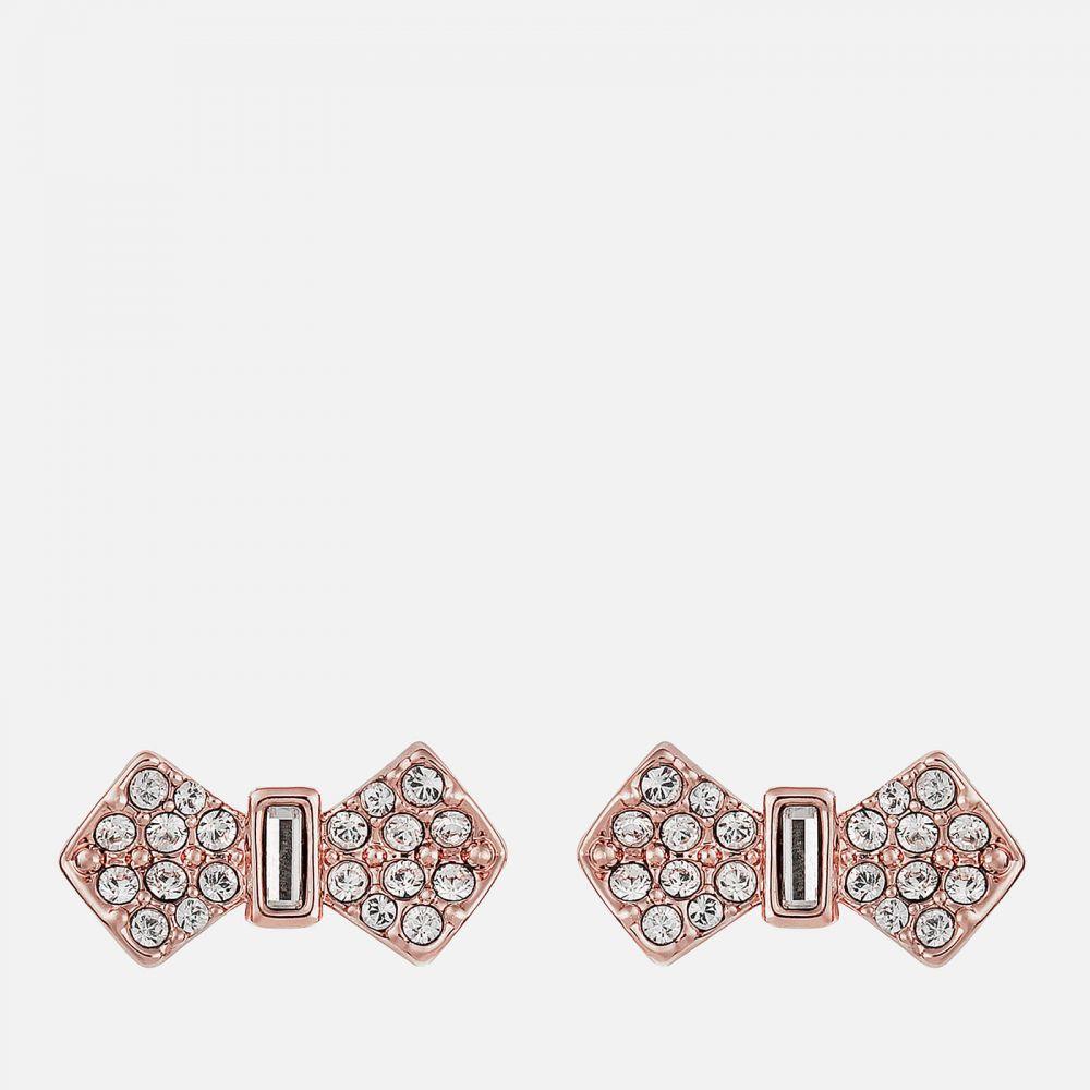 テッドベーカー Ted Baker レディース イヤリング・ピアス ジュエリー・アクセサリー【Sersi Solitaire Pave Bow Earrings - Rose Gold】Rose Gold