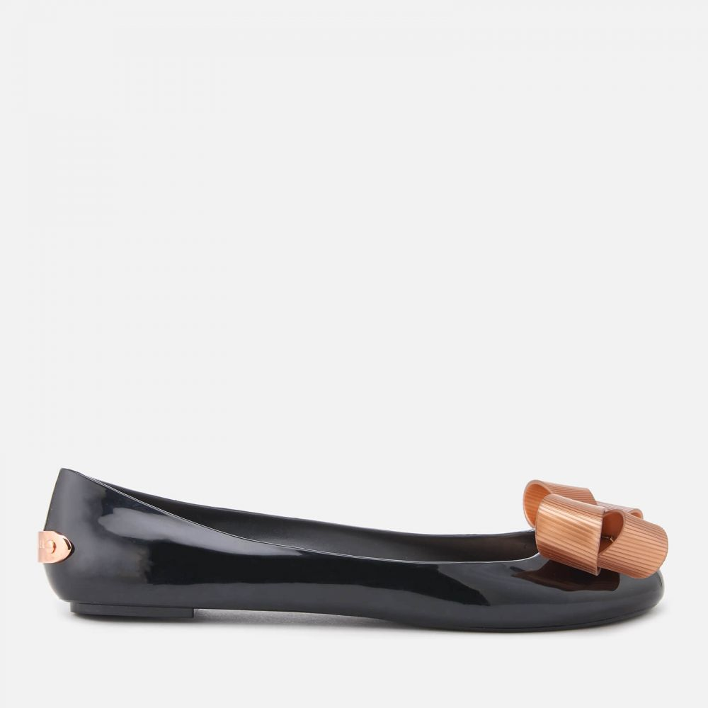 テッドベーカー Ted Baker レディース スリッポン・フラット シューズ・靴【Larmiar Bow Ballet Flats - Black】Black