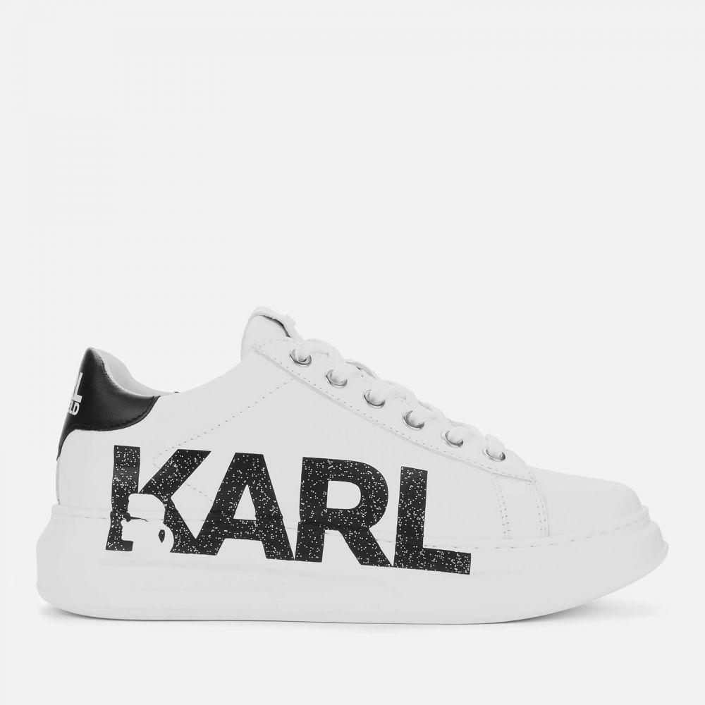 カール ラガーフェルド Karl Lagerfeld レディース スニーカー チャンキーヒール シューズ・靴【Kapri Karl Logo Leather Chunky Trainers - White】White