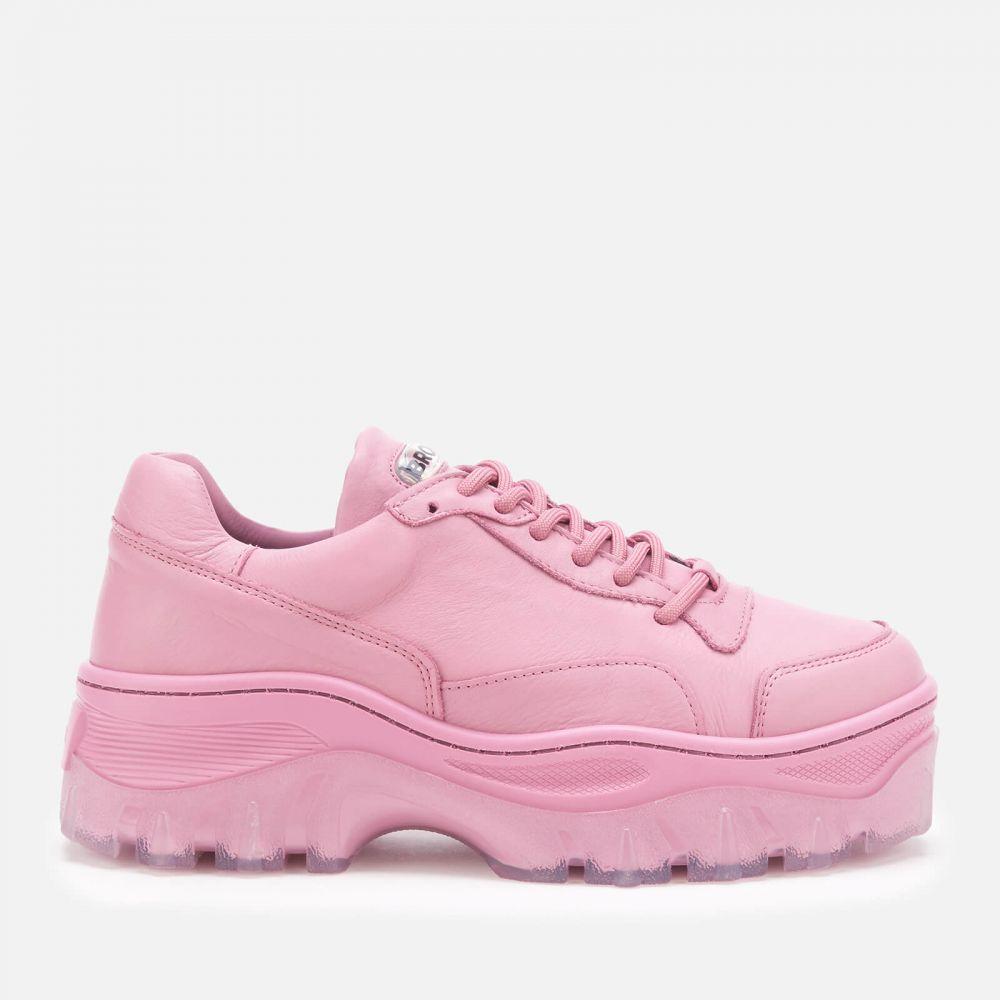 ブロンクス Bronx レディース スニーカー チャンキーヒール シューズ・靴【Jaxstar Leather Chunky Trainers - Plum】Pink