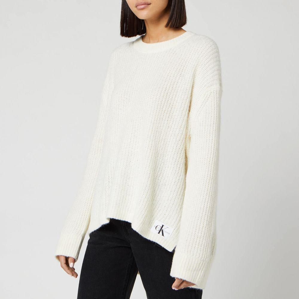 カルバンクライン Calvin Klein レディース ニット・セーター トップス【Jeans Wool Blend Jumper - Winter White】Cream