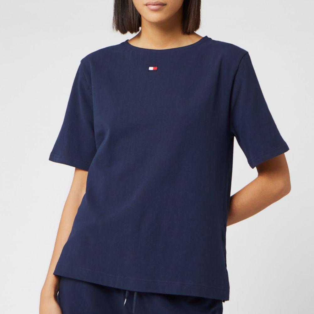 トミー ヒルフィガー Tommy Hilfiger レディース Tシャツ トップス【BN Half Sleeve T-Shirt - Navy Blazer】Blue