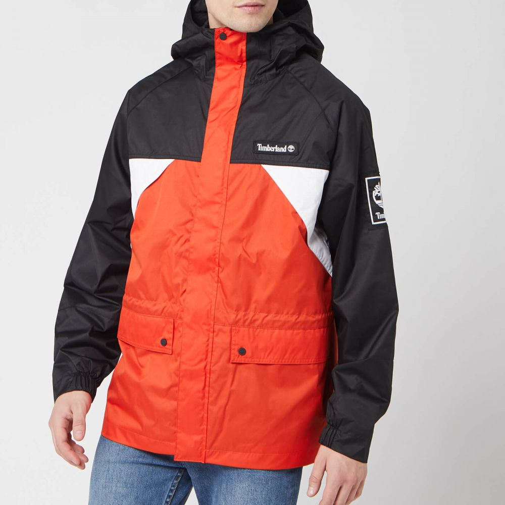 ティンバーランド Timberland メンズ コート アウター【Outdoor Archive Weather Breaker Coat - White/Spicy Orange/Black】Orange/Black/White