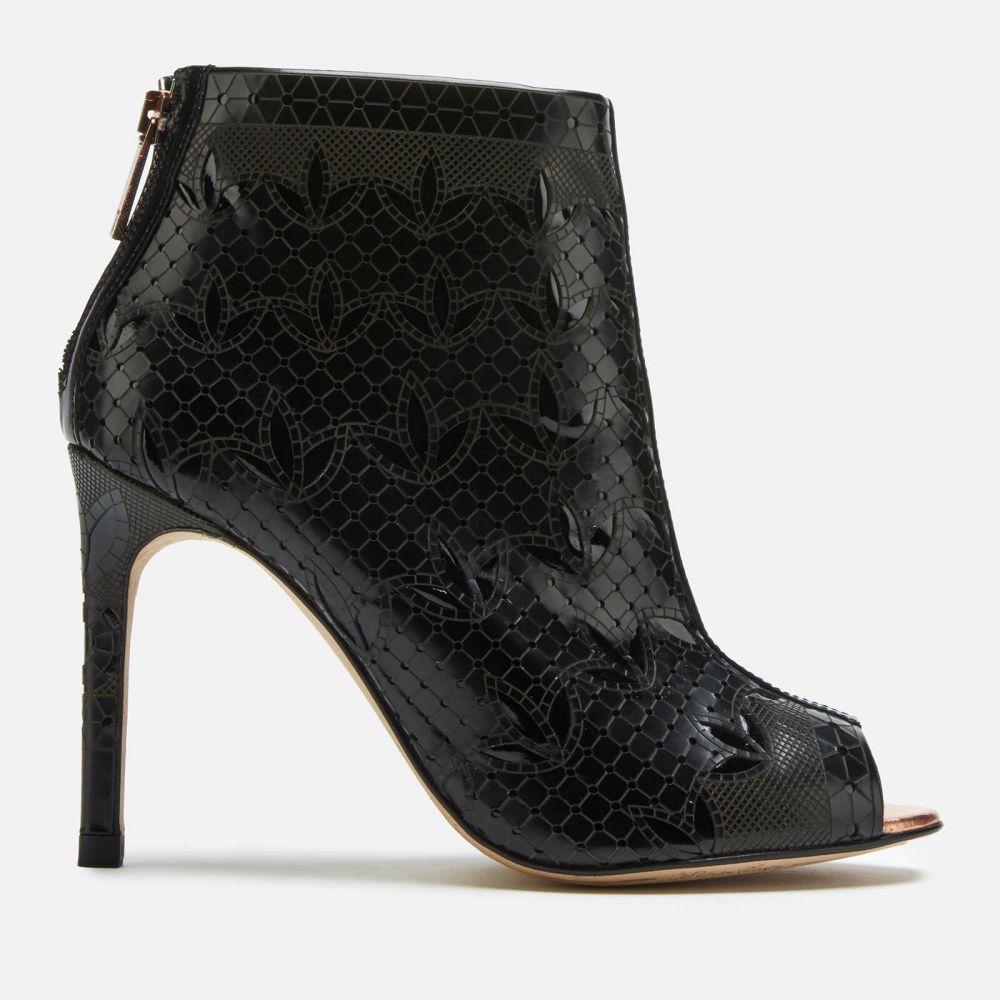 テッドベーカー Ted Baker レディース ブーツ オープントゥ シューズ・靴【Hauula Open Toe Shoe Boots - Black】Black
