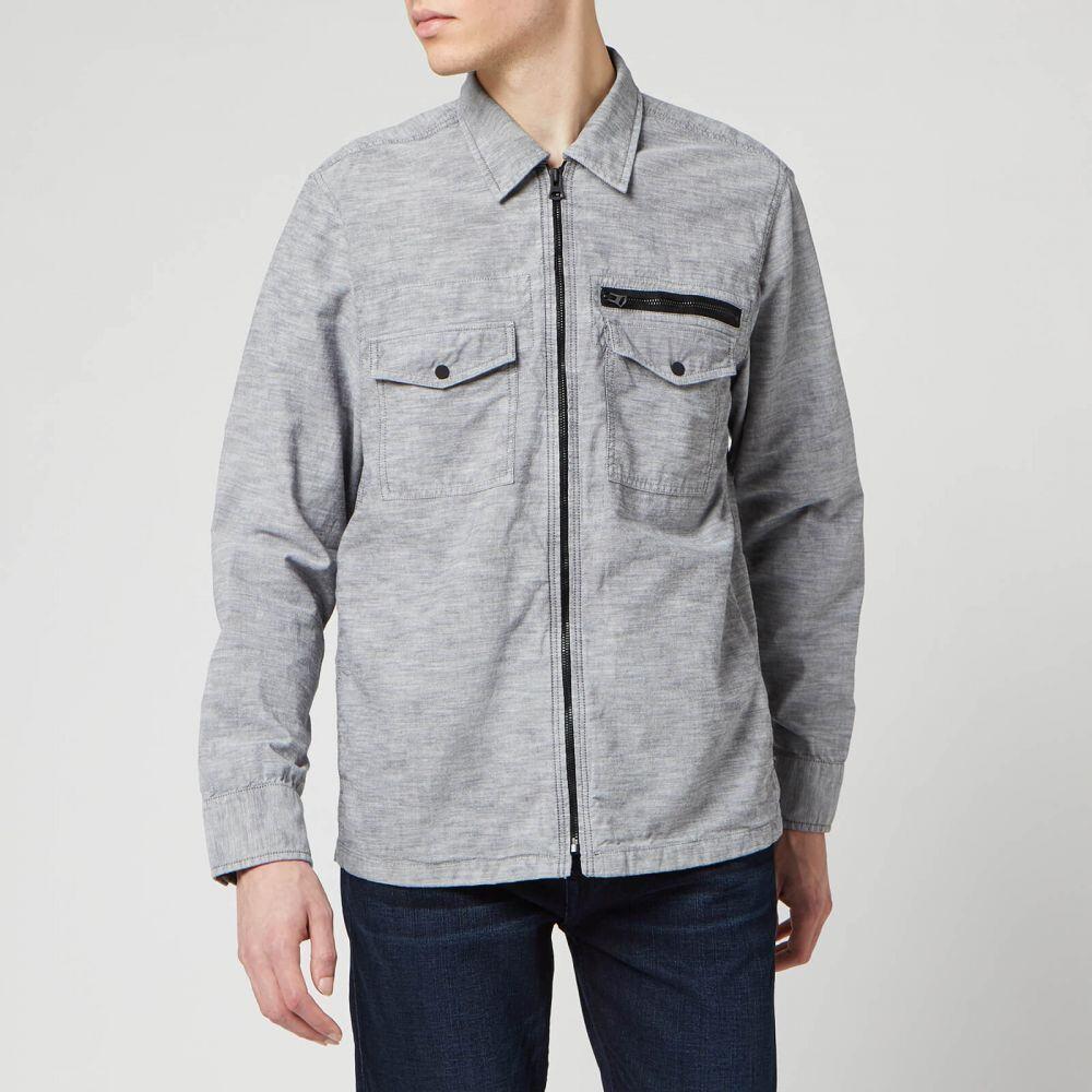 ヒューゴ ボス BOSS Hugo Boss メンズ シャツ トップス【Lovel-Zip 3 Shirt】Grey