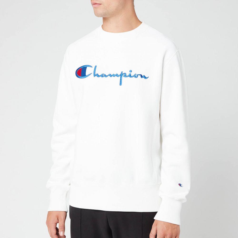 チャンピオン Champion メンズ スウェット・トレーナー トップス【Big Script Sweatshirt】White