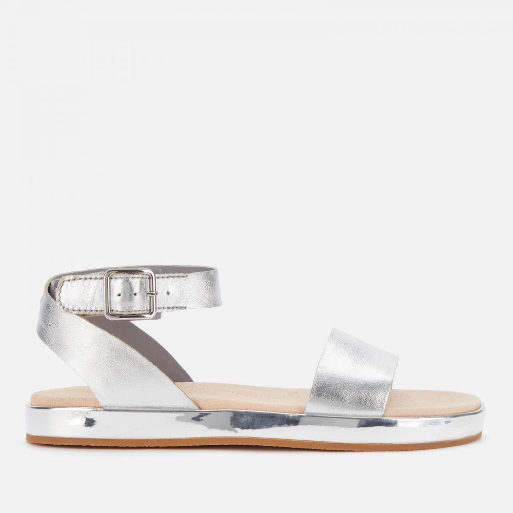 クラークス Clarks レディース サンダル・ミュール フラット シューズ・靴【Botanic Ivy Flat Sandals】Silver