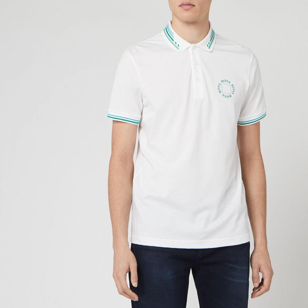 ヒューゴ ボス BOSS Hugo Boss メンズ ポロシャツ トップス【Paddy 1 Polo Shirt】White