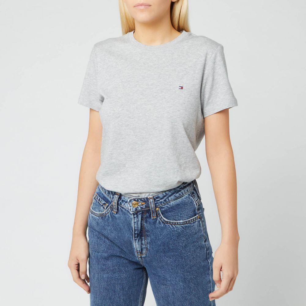 トミー ヒルフィガー Tommy Hilfiger レディース Tシャツ トップス【Heritage Crew Neck T-Shirt】Grey