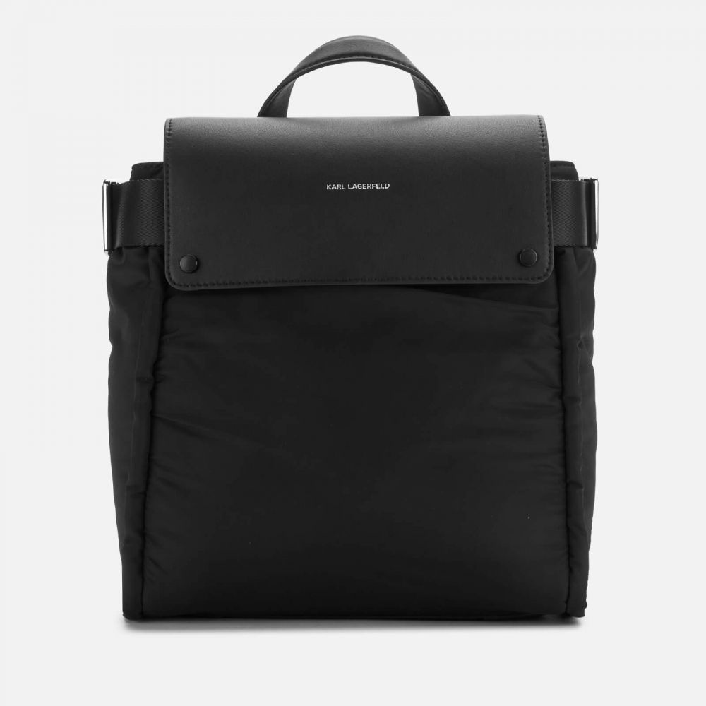 カール ラガーフェルド Karl Lagerfeld レディース バックパック・リュック バッグ【K/Ikon Nylon Backpack】Black