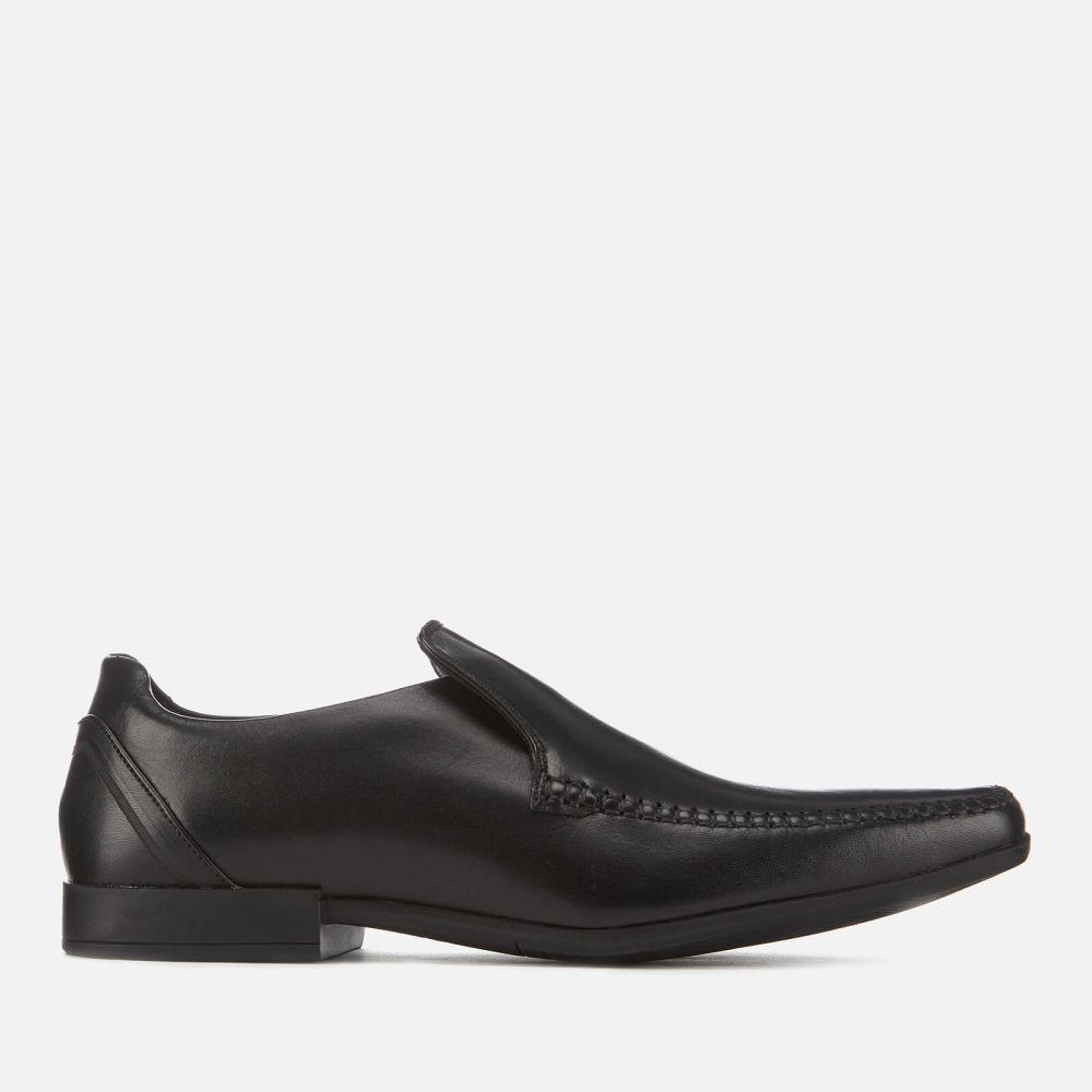クラークス Clarks メンズ スリッポン・フラット シューズ・靴【Glement Seam Leather Slip-On Shoes】Black