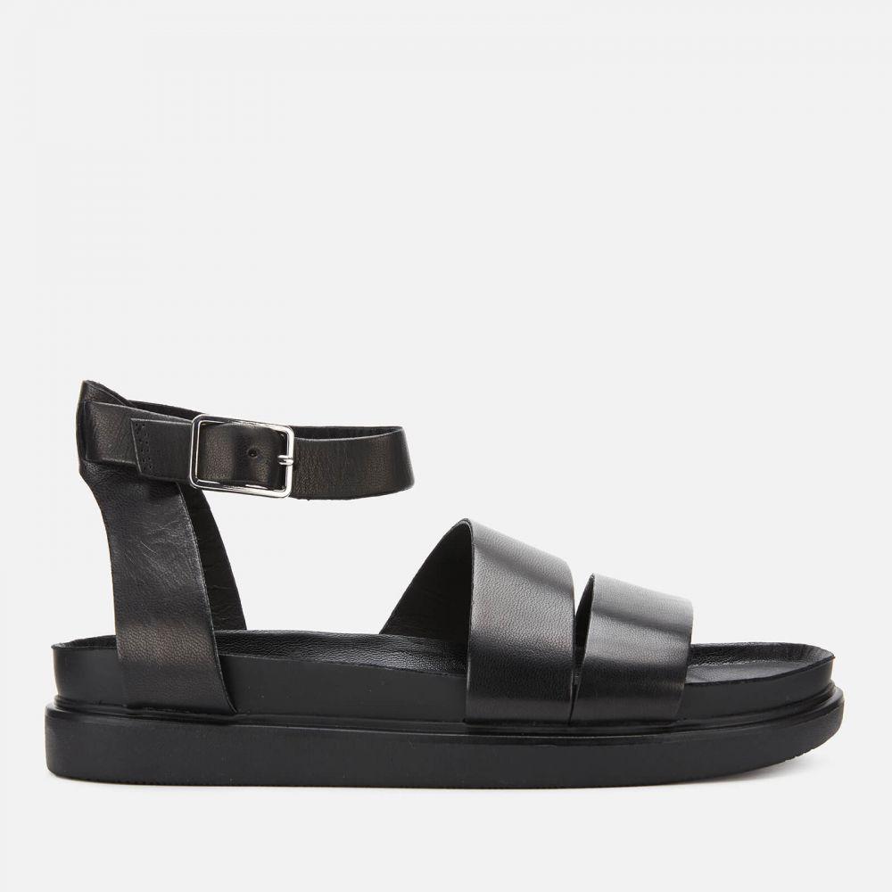バガボンド Vagabond レディース サンダル・ミュール フラット シューズ・靴【Erin Leather Flat Sandals】Black
