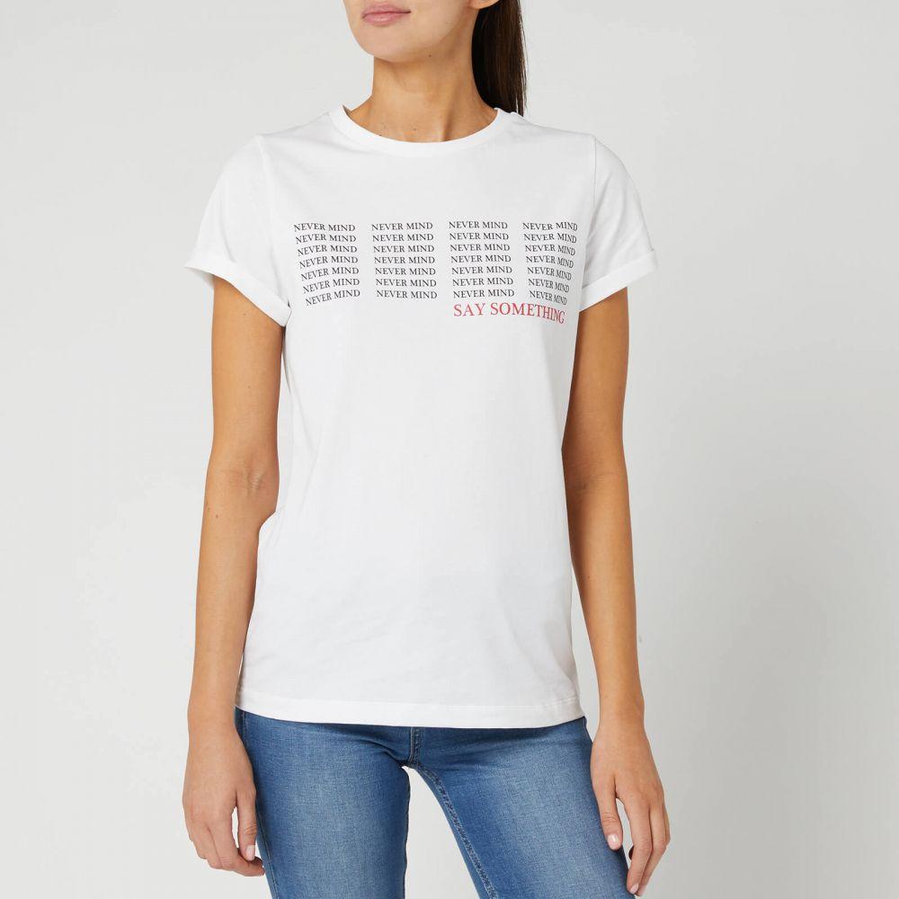 ヒューゴ ボス HUGO レディース Tシャツ トップス【Denna Short Sleeve T-Shirt】White