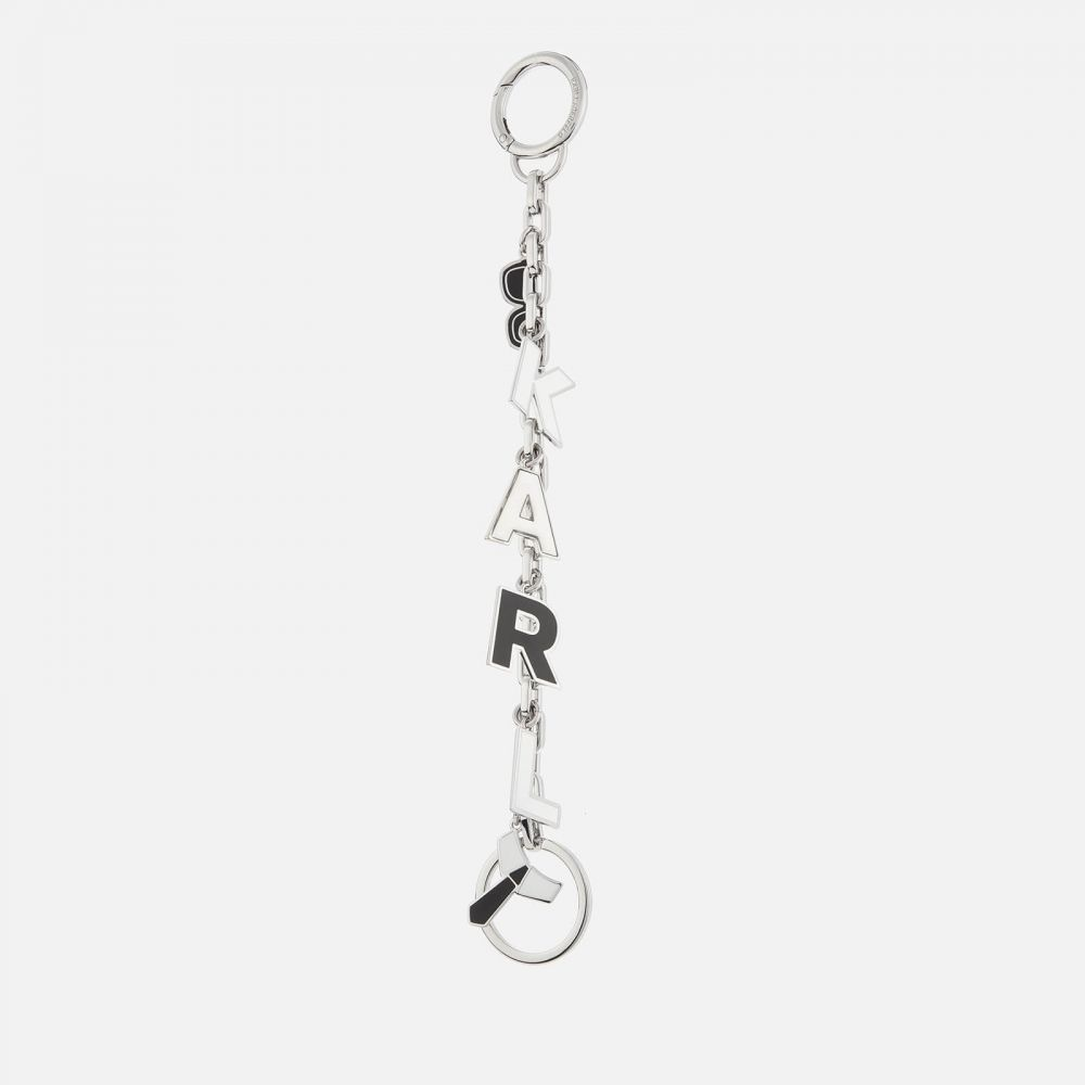 カール ラガーフェルド Karl Lagerfeld レディース キーホルダー キーチェーン【Karl Charms Hanging Keychain】Silver/Black/White