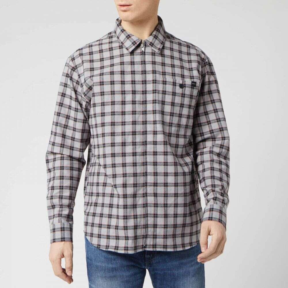 エドウィン Edwin メンズ シャツ トップス【Wilson Zip Through Shirt】Grey