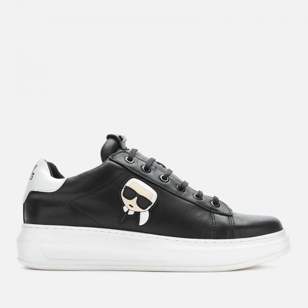 カール ラガーフェルド Karl Lagerfeld メンズ スニーカー シューズ・靴【Kapri Karl Ikonic 3D Lace Leather Trainers】Black