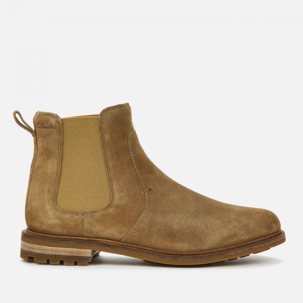 クラークス Clarks メンズ ブーツ チェルシーブーツ シューズ・靴【Foxwell Top Suede Chelsea Boots】Beige
