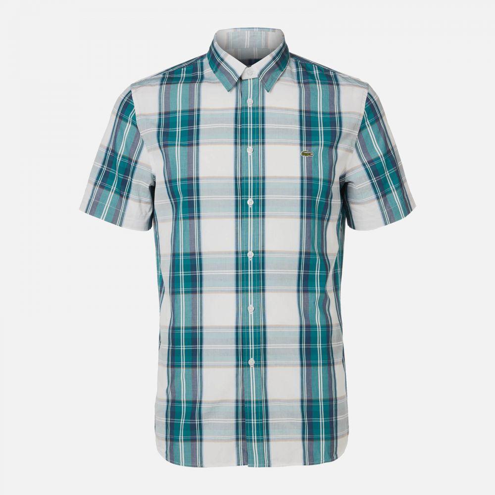 ラコステ Lacoste メンズ 半袖シャツ トップス【Short Sleeve Check Shirt】Multi