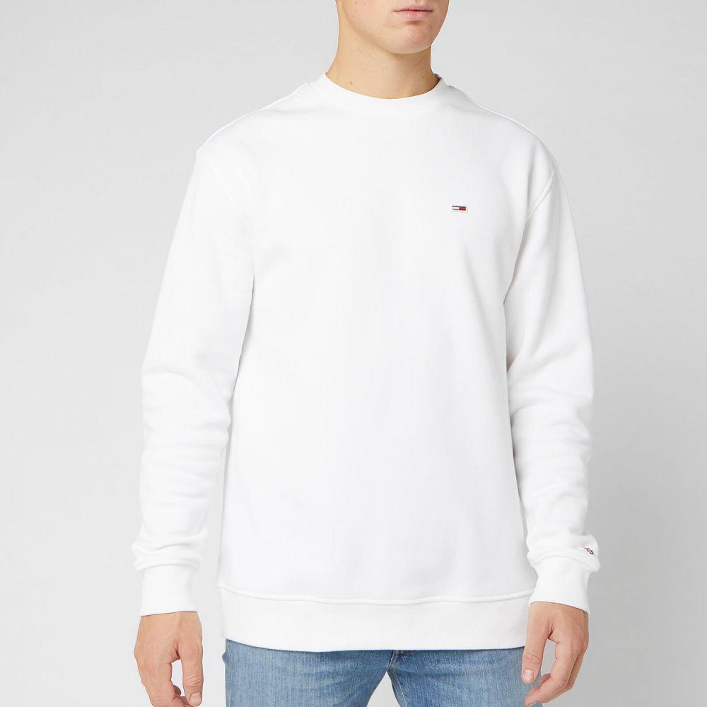 トミー ジーンズ Tommy Jeans メンズ スウェット・トレーナー トップス【Tommy Classics Sweatshirt】White